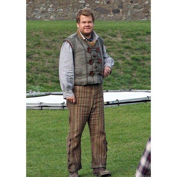 First Look At INTO THE WOODS Movie Cast In Costume! James Corden