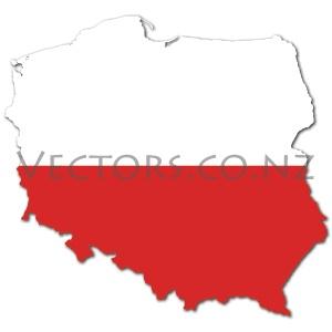 Flag Vector Map of Poland