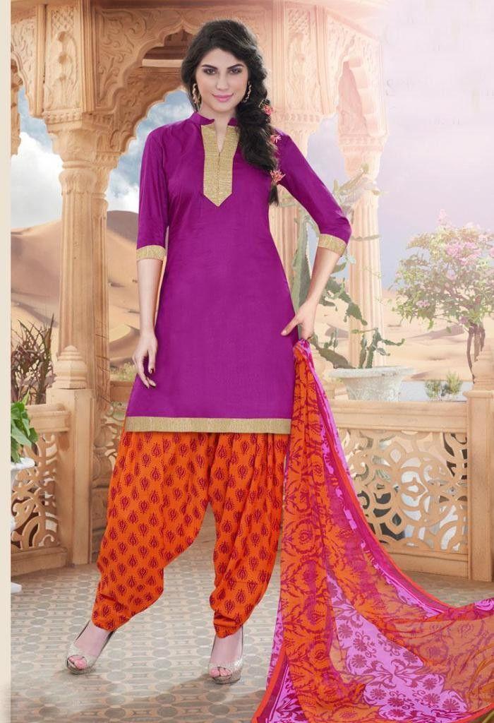 Cotton Salwar Kameez Gota Patti Worked 35520
