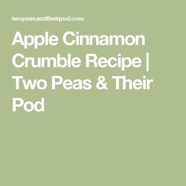 Apple Cinnamon Crumble Recipe | Two Peas & Their Pod