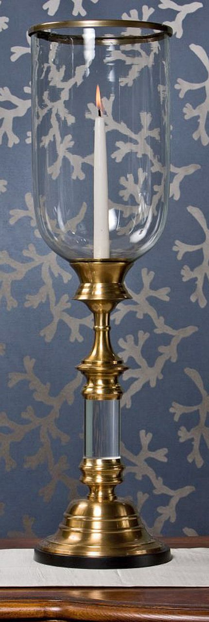 Kensington Row Collection - SOUTHAMPTON HURRICANE CANDLE HOLDER - ANTIQUE BRASS, $195.00 (http://www.kensingtonrowcollection.com/southampton-hurricane-candle-holder-antique-brass/)