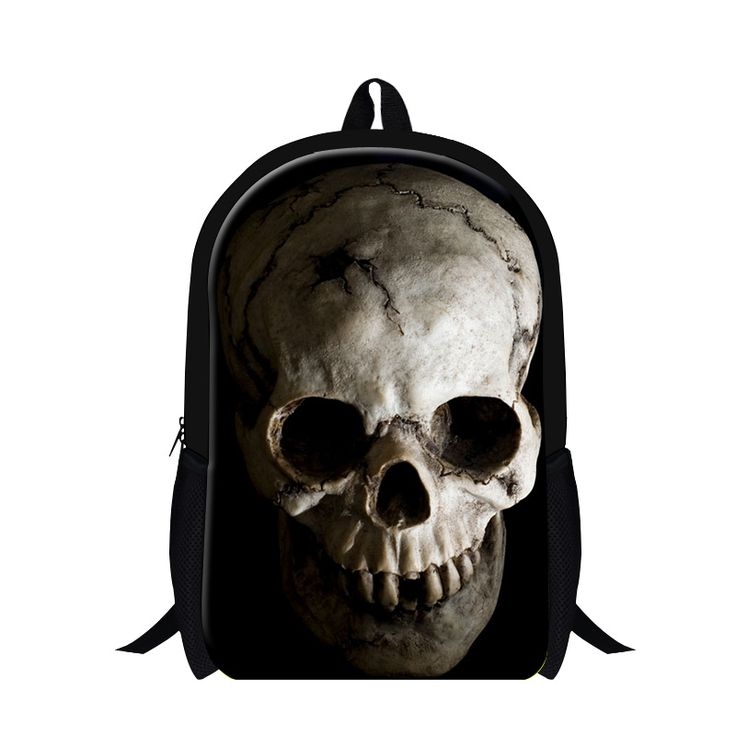 Stylish skull Pattern school backpack for cool boys,fashion day back pack for men,children's stylish backpacking bag,ghost head