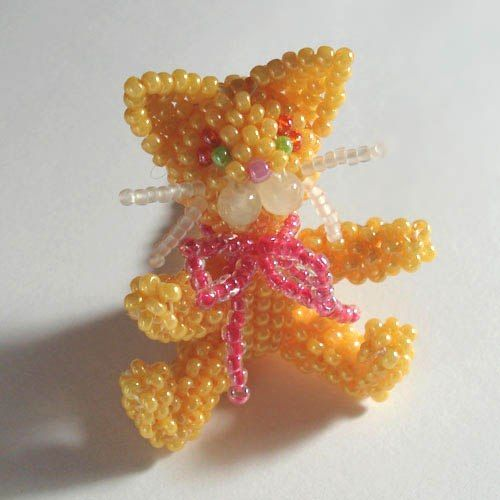 Ginger cat bead. MK .. Discussion LiveInternet - Russian Service Online Diaries