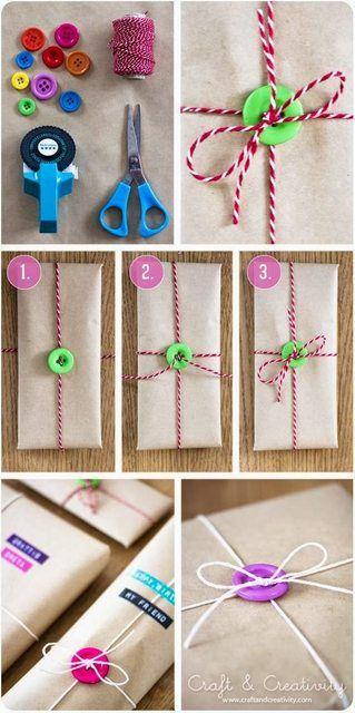 Pour emballer les cadeaux...avec des boutons