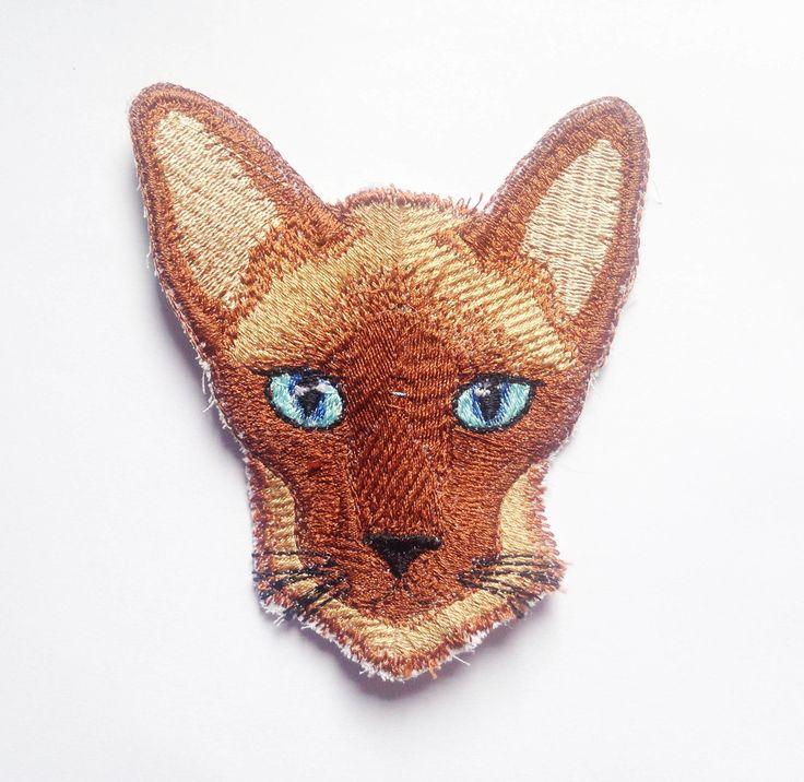 Patch Bordado Termocolante Gato Siamês | Aline Bordados e Agrados | Elo7