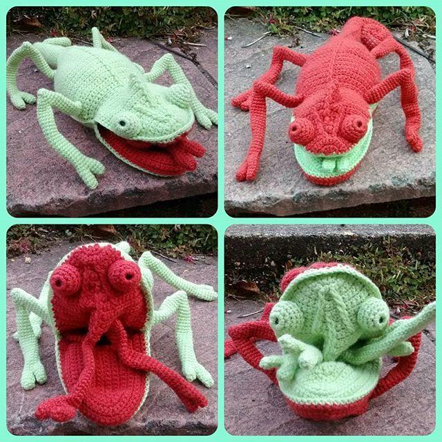 78th_stitch #crochet chameleon