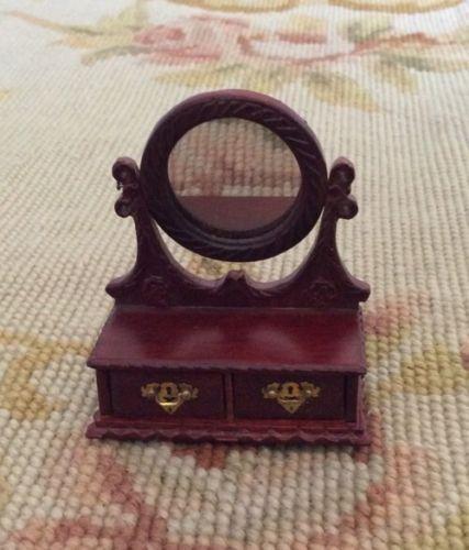 Jewelry Box Vanity Case Mirror 1:12 Dollhouse Miniature
