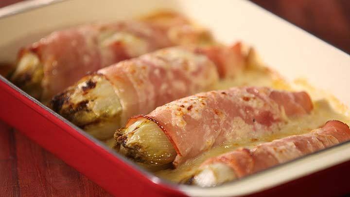 Witlof met ham en bechamel saus