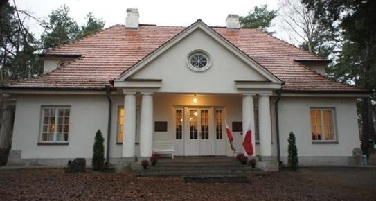 Front of manor house of Józef Piłsudski in Sulejuwek