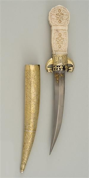 Dagger with scabbard  Ottoman. Mid-16th Century. Armoury