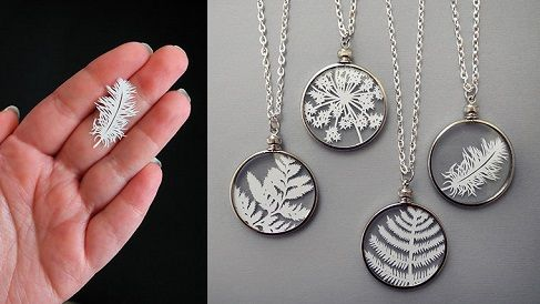 The Beading Gem's Journal: Paper Cut Jewelry by Sarah Trumbauer