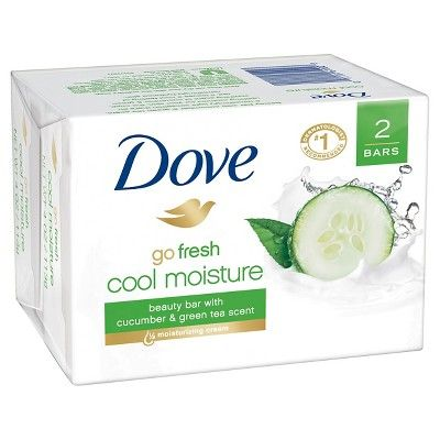 Dove go fresh Cool Moisture Beauty Bar 4 oz, 2 Bar