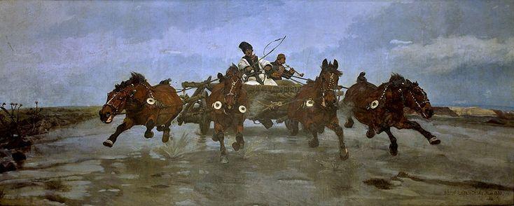 Józef Chełmoński <em>Czwórka</em> | 1881 rok, Muzeum Narodowe w Krakowie