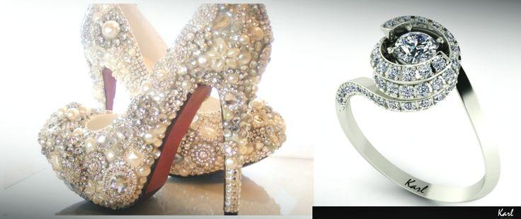The perfect ring and the perfect shoes... Do you love the extravagant accessories?  http://www.eljegyzesi-gyuruk.hu/termekek/modern-eljegyzesi-gyuruk/feher-arany-14-karat/bolero #wedding #engagement #engagementring #ring #jewel #love