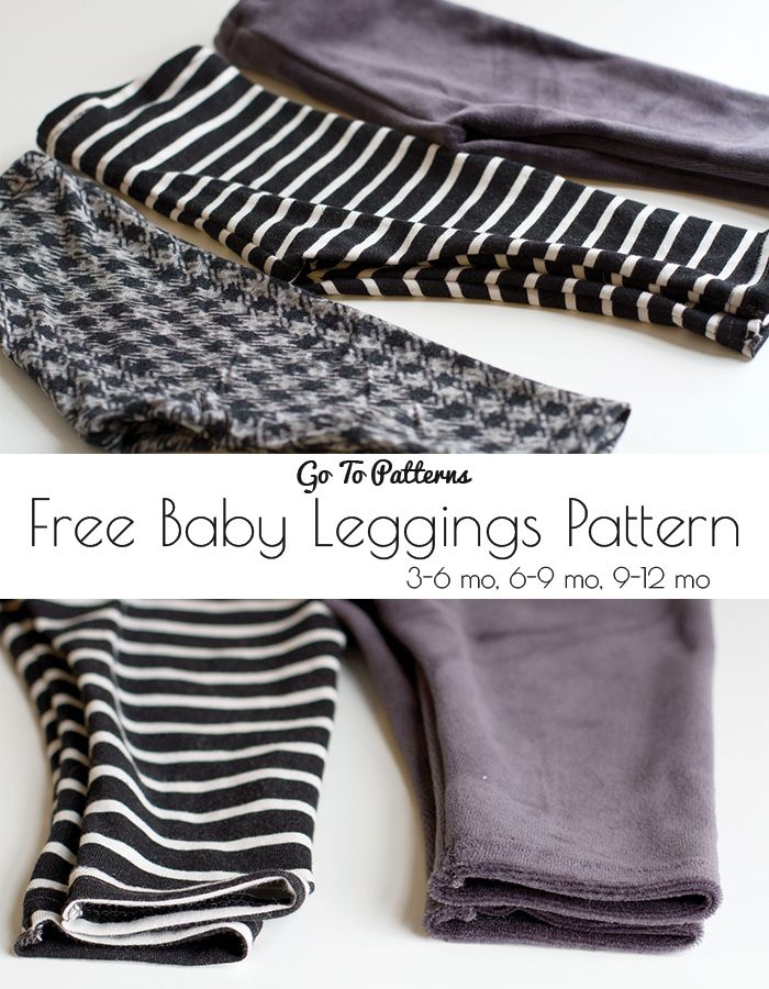 FREE Baby Go To Leggings sewing pattern and tutorial.