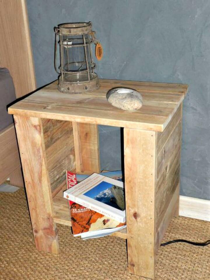 6 Pallet Side Table Ideas End Table Full Instructions Pallet