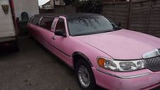 Rare 4 Door 1997 SuperStretch 34Ft Pink Lincoln Town Car 4.6 Ltr V8 Non Runner