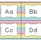 This product contains rainbow colored chevron label cards for a small word wall. My plan is to print this file, cut it apart and glue the individua...