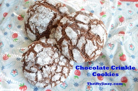 Chocolate Crinkle Cookies | http://yourperfectdessert.blogspot.com ...