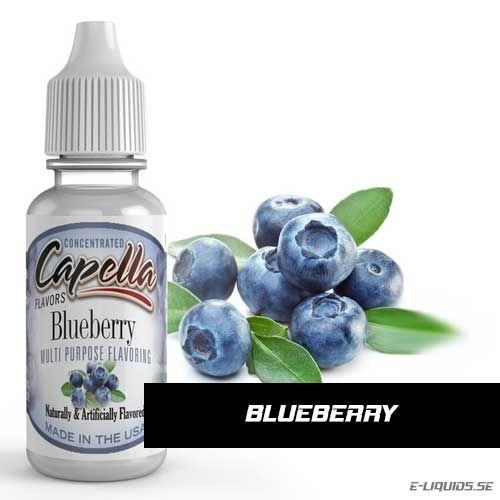 Blueberry Flavor / Blåbärs Arom Capella Flavors erbjuder massor av utsökta smaker till väldigt hög klass. De är vattenlösliga och mycket koncentrerade essenser.  Tillverkade i USA med säkra och rena smaker. Godkända av FDA (Amerikanska Mat- och läkemedelsverket). Kan användas i både mat (bakverk, glass m.m.) och dryck (alkoholhaltiga drinkar, protein shakes, espressos, smaksatt vatten m.m.
