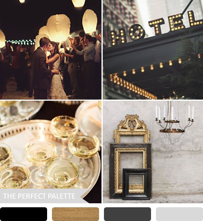 Party Palette | Black + Gold