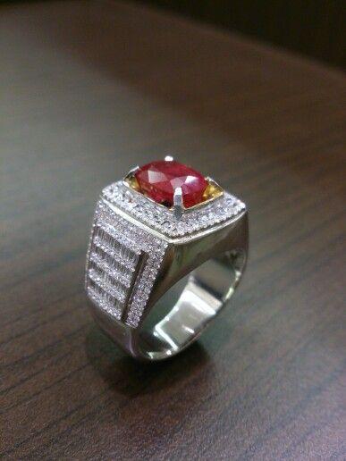 #Burma ruby#mens ring