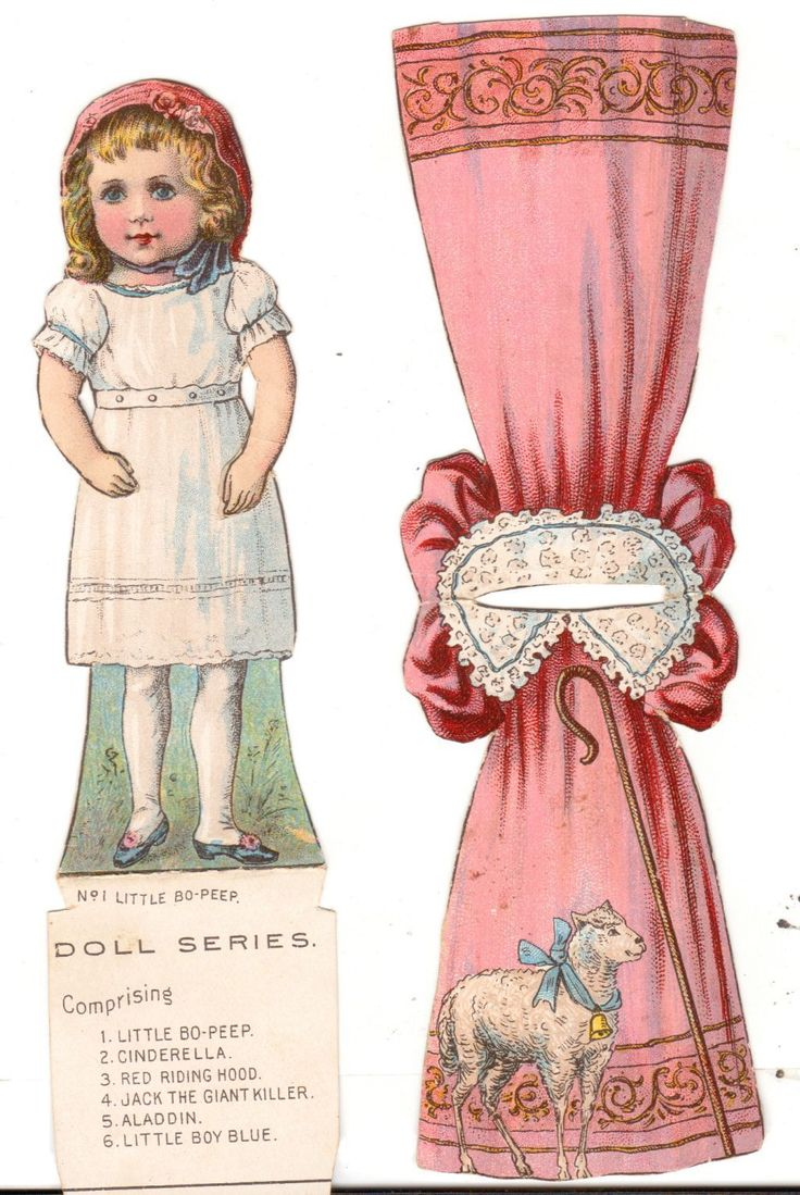 Undated Trade Card Capital Coffee Stand Up Paper Doll Little Bo Peep Series • $9.99 - PicClick