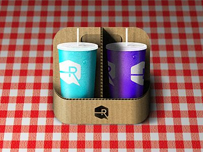 Cup carrier ios app icon