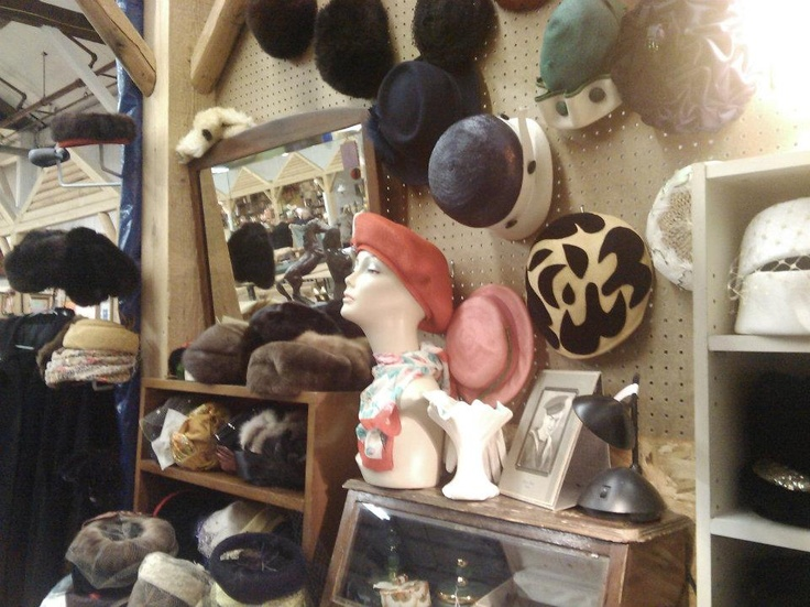 Had so much fun trying on these vintage hats at the Vancouver flea market!