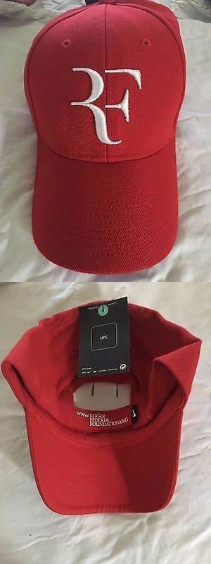 Hats and Headwear 159160: ** Rare Roger Federer Nike Red And White Foundation Cap Hat Rf ** -> BUY IT NOW ONLY: $500 on eBay!