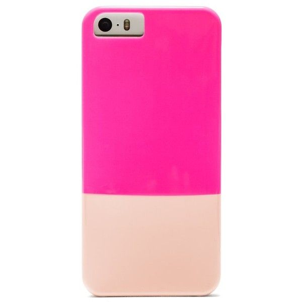 BaubleBar Neon Pink + Blush iPhone 5/5s Case ($25) ❤ liked on Polyvore