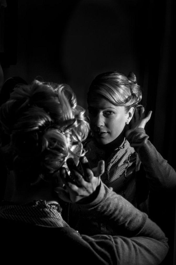 Brautporträt im Stil 30er Jahre