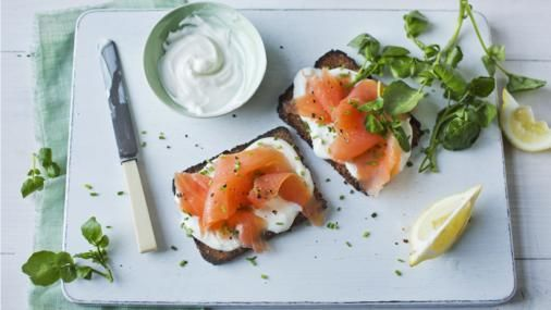BBC Food - Recipes - Smoked salmon open-topped sandwich
