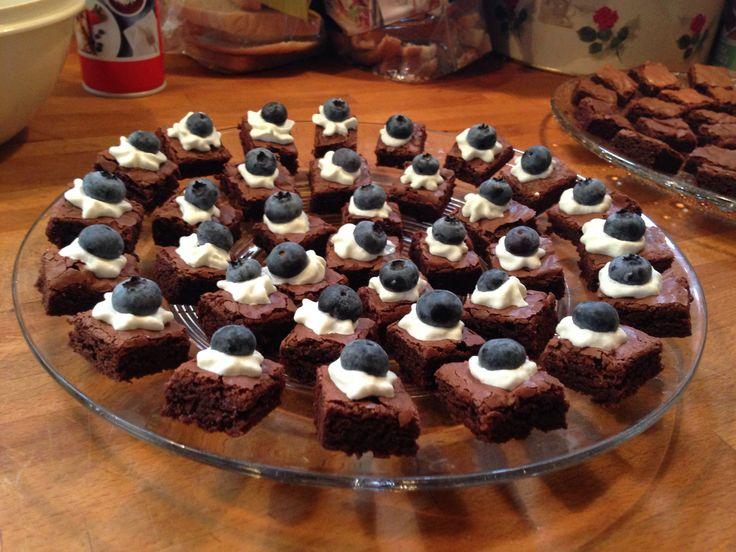Chokoladekager med blåbær