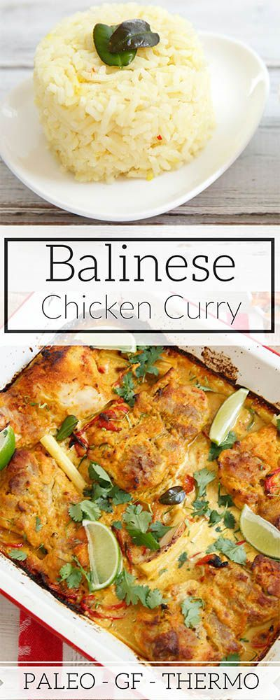 EASY Fragrant Balinese Chicken Curry was developed after a Balinese cooking class, I've adapted it into a quick curry for the Thermomix or food processor. #Thermomix #Balinese #chickencurry #chicken #curry #GF #Paleo via @thermokitchen