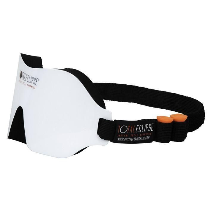 Dream Essentials, Total Eclipse Sleep Mask with Earplugs for insomnia, trouble falling asleep and environmental sleep disorders treatment, side view #Insomniacauses
