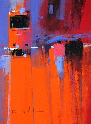Love Tony Allain from New Zealand.  Such bold and expressive pastels.  I agree...we can all learn from his boldness!