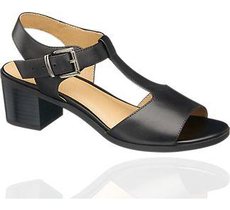 Skórzane sandały damskie - 1231038 - Dostawa gratis!