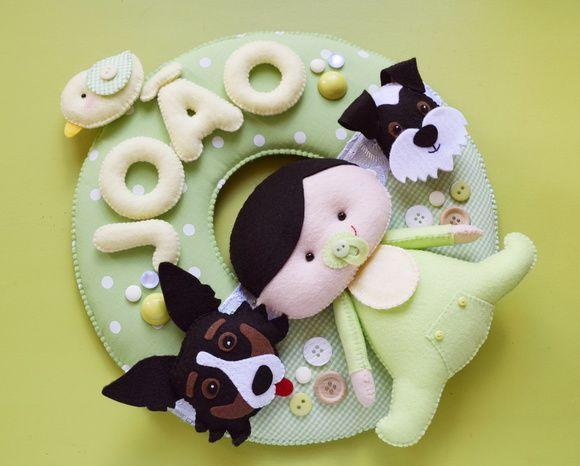 Guirlanda Bebê + cachorrinhos