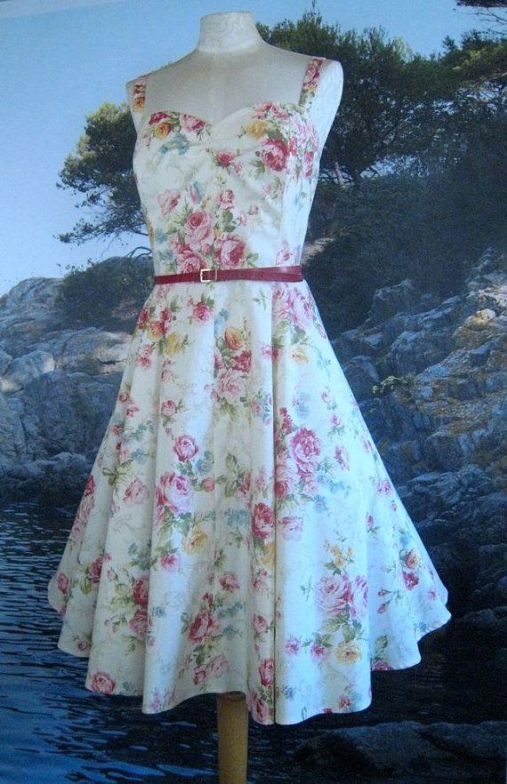 50's Style Circular Skirt Sundress in Garden by TrishFearnClothing