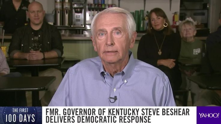 Former Kentucky Governor Steve Beshear delivers the official Democrat response to President Trump's speech to the joint session of Congress.
