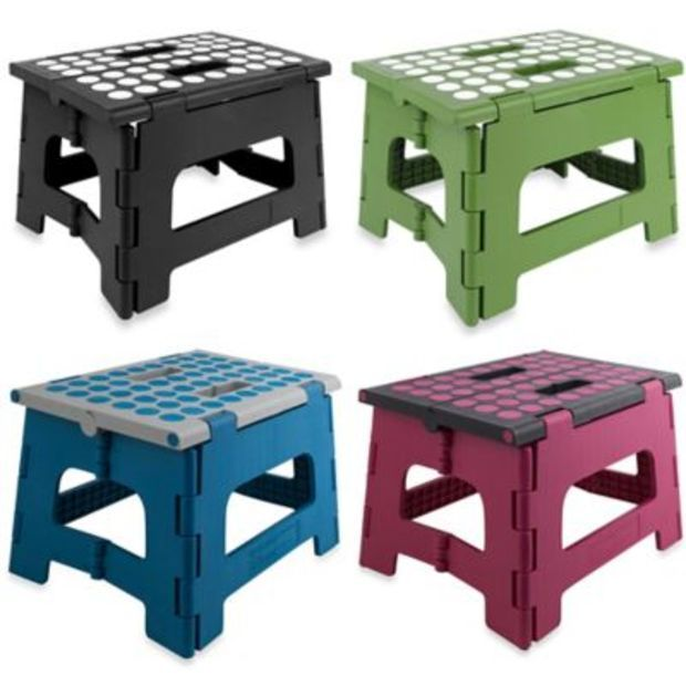 Kikkerland 174 Easy Fold Step Stools Home Accessories