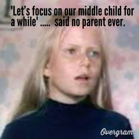 #bradybunch,#middlechild