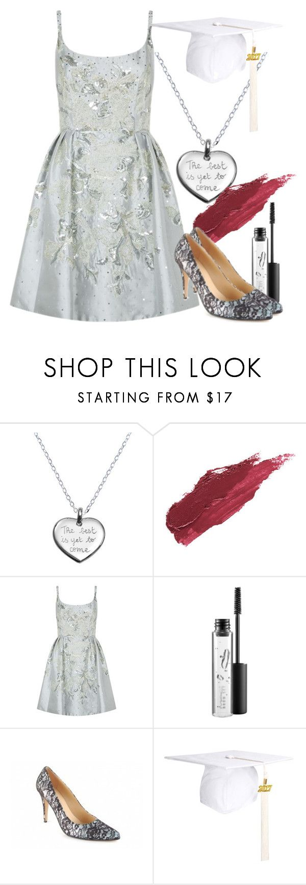"""Graduation Day Style"" by large-size-shoes ❤ liked on Polyvore featuring Merci Maman, Lily Lolo, Marchesa and MAC Cosmetics"
