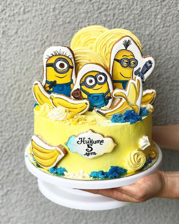 296 отметок «Нравится», 8 комментариев — Торты в Минске | CAKES.BY (@cakesby) в Instagram: «Banana!! Судя по вашим пожеланиям , Миньоны вернулись ! всем понравилась третья часть !?…»