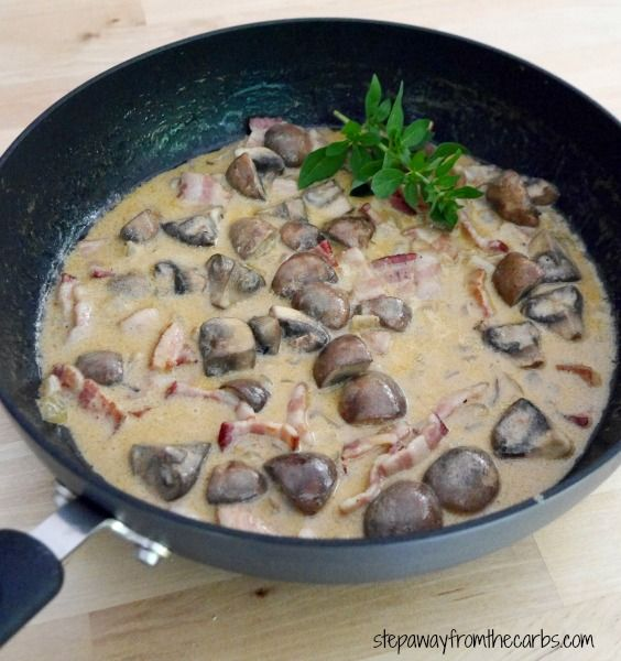 Low Carb Mushroom and Bacon Sauce