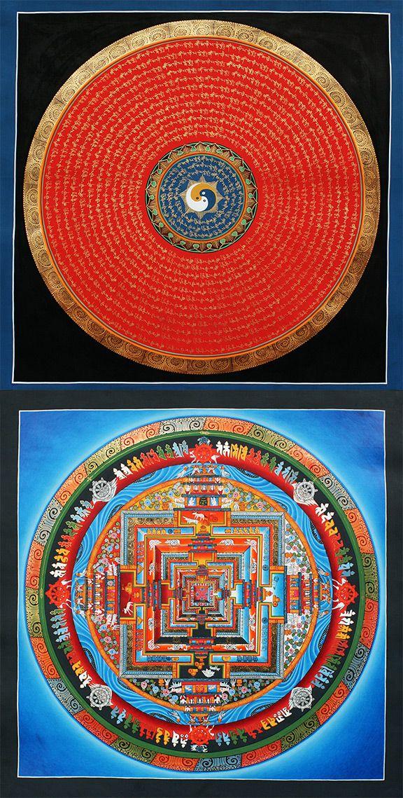 Order online beautiful #Mandala #Thangka Paintings realized by master artworks.