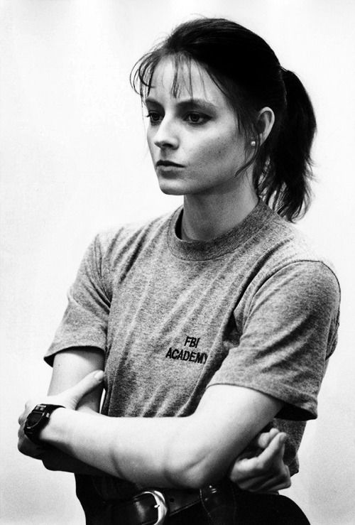 Jodie Foster as Clarice Starling.