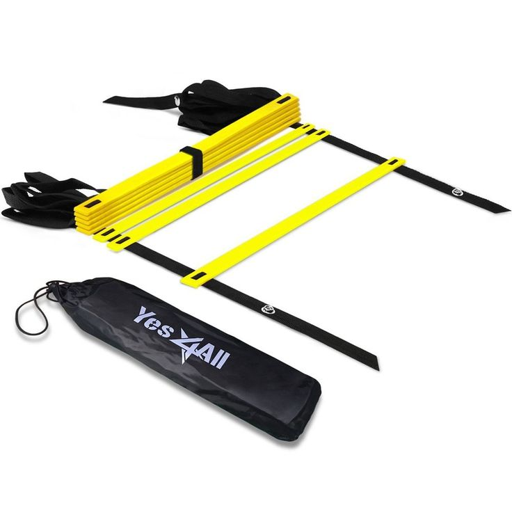 Yes4all Speed And Agility Training Ladder Carry Bag 8 Rung Yellow Workout #Yes4All