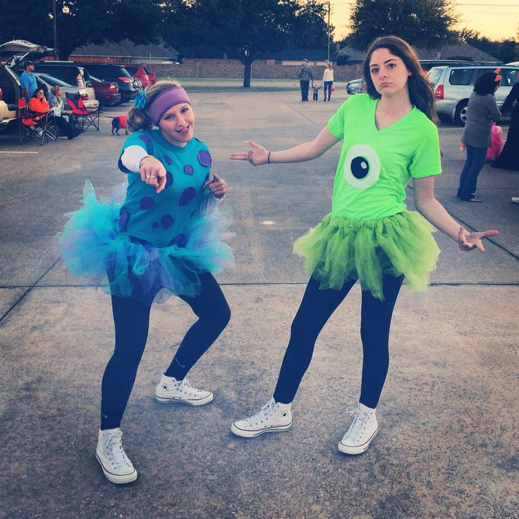 Sulley & Mike...this would be cute for a running group costume! :)
